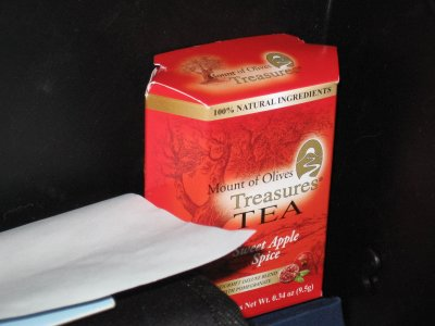 Mount of Olives Sweet Apple Spice Tea – Batteries, Candy, Tea…